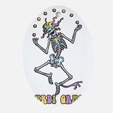 juggler-skel-T Oval Ornament
