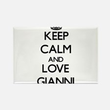 Keep Calm and Love Gianni Magnets