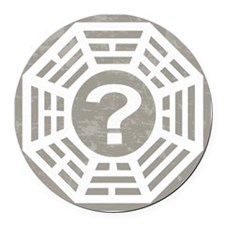 Dharma Station Gray Round Car Magnet