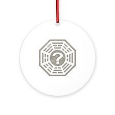 Dharma Station Gray Round Ornament