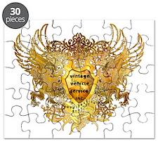 VINTAGE VEHICLE SERVICE SHEILD GOLD FIN Puzzle
