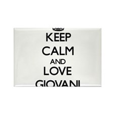 Keep Calm and Love Giovani Magnets