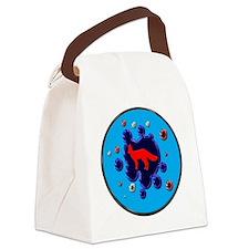 foxy splash Canvas Lunch Bag