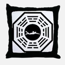 Swimmer_men_notext Throw Pillow