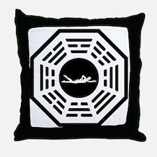 Swimmer_women_notext Throw Pillow