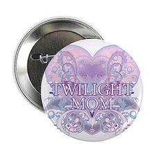 """Twilight Mom Fancy Heart 2.25"""" Button"""