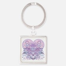 Twilight Mom Fancy Heart Square Keychain