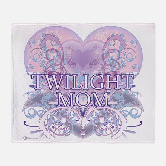 Twilight Mom Fancy Heart Throw Blanket