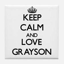 Keep Calm and Love Grayson Tile Coaster