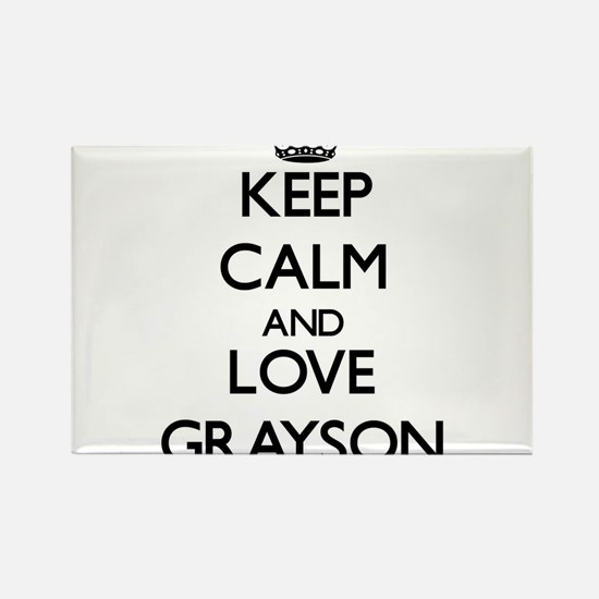 Keep Calm and Love Grayson Magnets