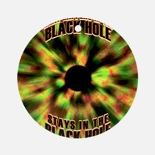 Black Hole Round Ornament