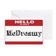 HELLO my name is McDreamy Greeting Card