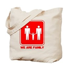 we are family men red copy Tote Bag