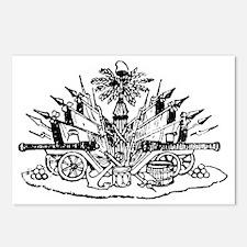 Haiti Coat of Arms Black Postcards (Package of 8)