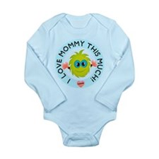 Love Mommy This Much Long Sleeve Infant Bodysuit