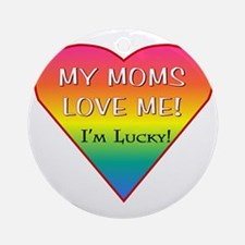 LGBT MOM Round Ornament