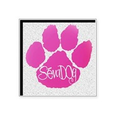 """Pink Paws Square Sticker 3"""" x 3"""""""
