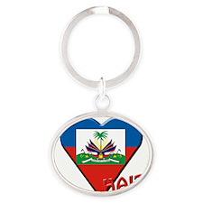 We-love-Haiti Oval Keychain