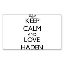 Keep Calm and Love Haden Decal