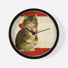 9x7.5_m.pad_cat Wall Clock