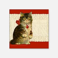 """9x7.5_m.pad_cat Square Sticker 3"""" x 3"""""""