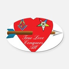 Valentine for the OES and Freemaso Oval Car Magnet