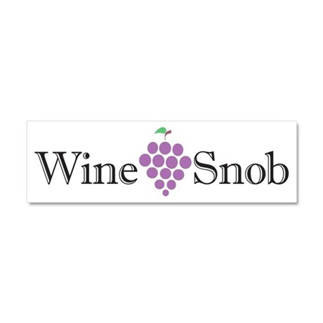 Wine Snob Car Magnet 10 x 3