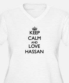Keep Calm and Love Hassan Plus Size T-Shirt