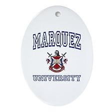 MARQUEZ University Oval Ornament