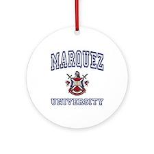 MARQUEZ University Ornament (Round)