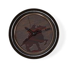 metaleffect border reiver sq Wall Clock