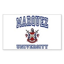 MARQUEZ University Rectangle Decal