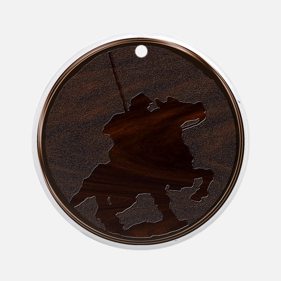 wood reiver Round Ornament