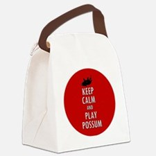 Keep Calm and Play Possum Canvas Lunch Bag