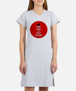 Keep Calm and Play Possum Women's Nightshirt
