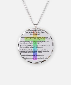 nohate-back-rainbow Necklace