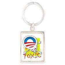Toxic Obama Logo Portrait Keychain