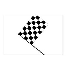 Racing Checkered Flag Postcards (Package of 8)