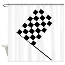 Racing Checkered Flag Shower Curtain