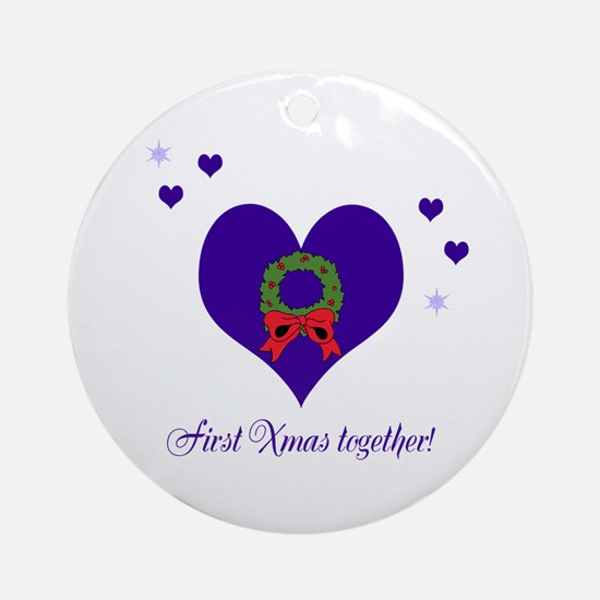 First Xmas together Ornament (Round)