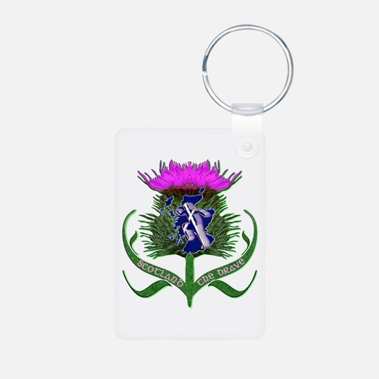 Scottish Runner And Thistle The Brave Keychains