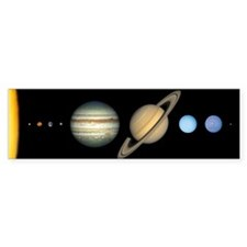 Scale Solar System Bumper Bumper Sticker