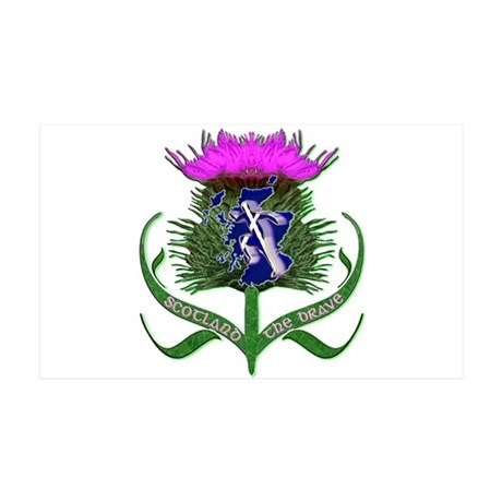 Scottish Runner And Thistle The Brave Wall Sticker