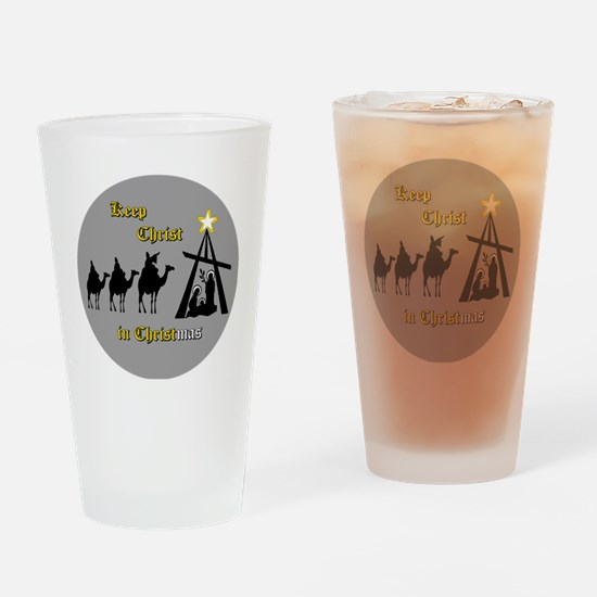 Keep Christ in Christ-mas Drinking Glass