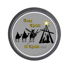 Keep Christ in Christ-mas Wall Clock