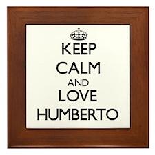 Keep Calm and Love Humberto Framed Tile