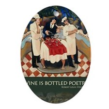 bottlepoetry Oval Ornament