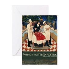 bottlepoetry Greeting Card