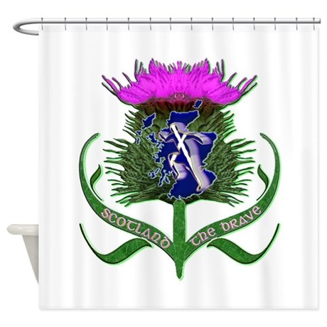 Scottish Runner And Thistle The Brave Shower Curta