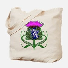 Scottish Runner And Thistle The Brave Tote Bag